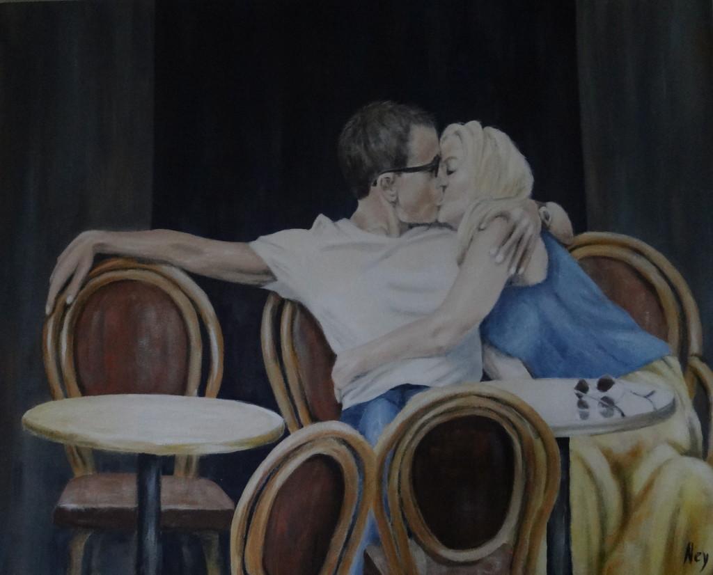 Pause amoureuse 100 x 80 cm