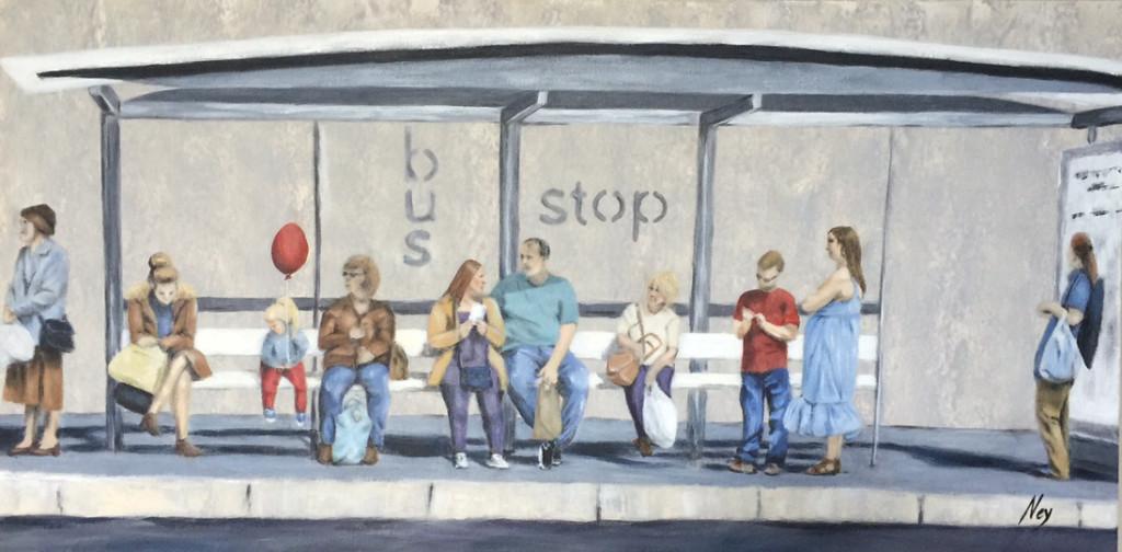 Bus Stop 100x50cm