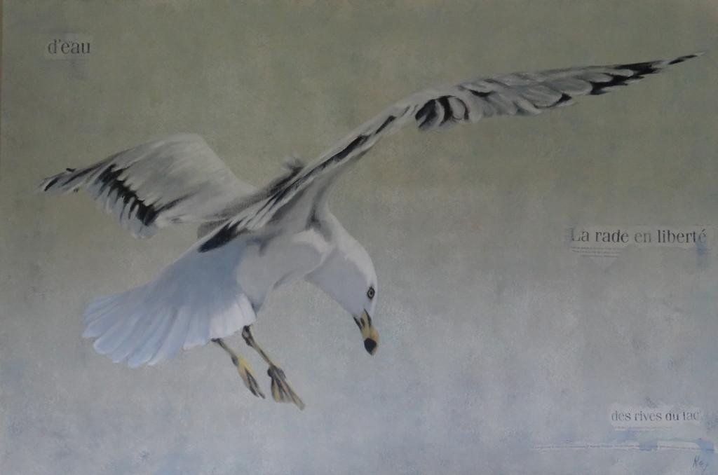 Le vent sous les ailes 120x80cm