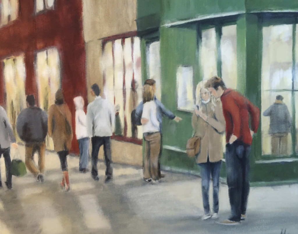 Evening out 80 x 60 cm