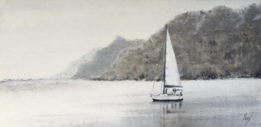 Morning on the lake 100x50cm